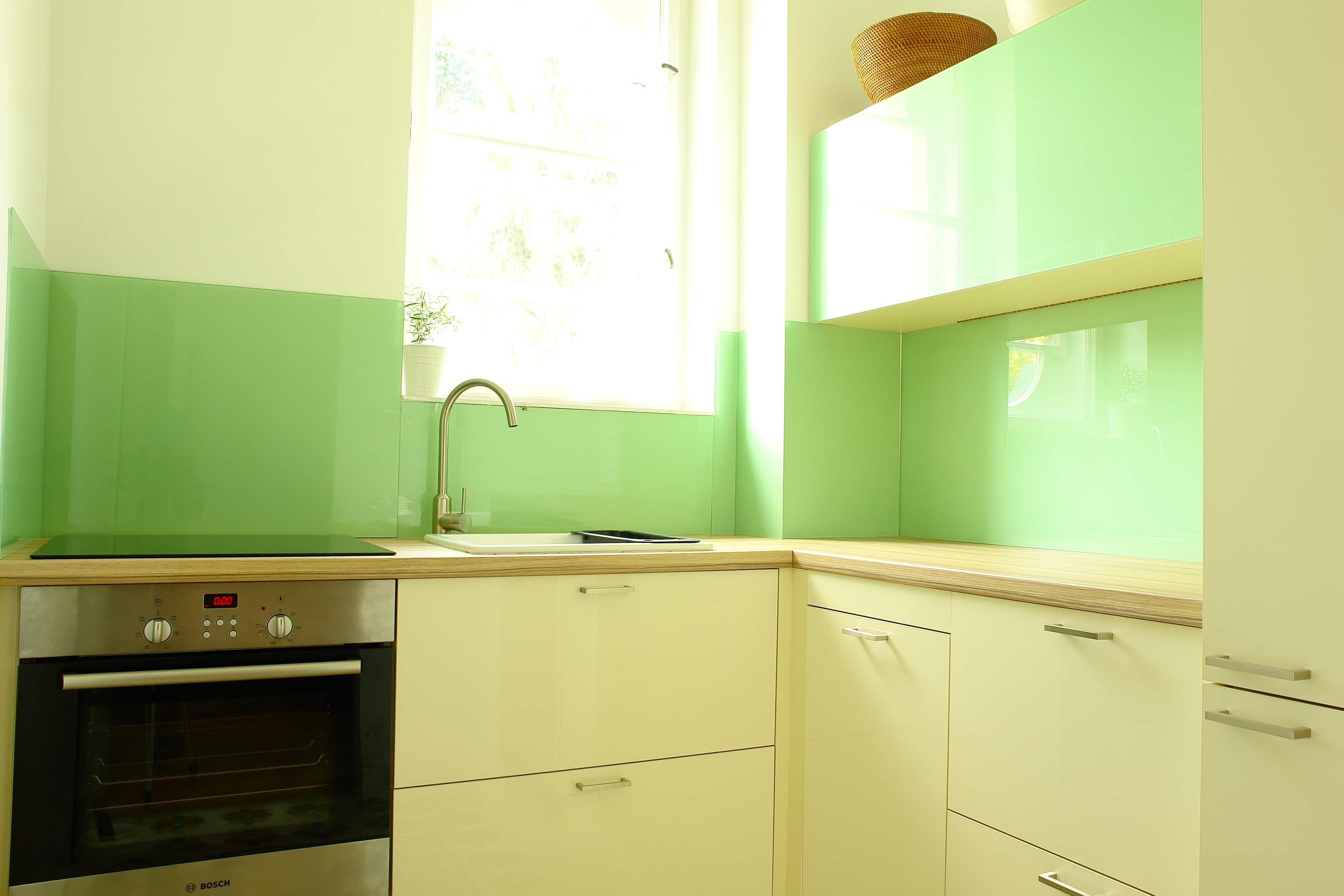 Kis konyha - az almazöld szín teszi izgalmassá